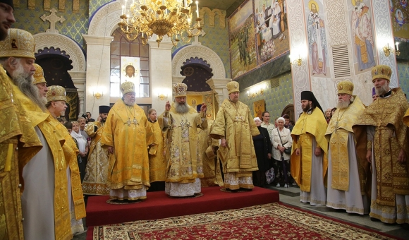Divine Liturgy in Ekaterinburg on the Sunday of All Saints Glorified in the Russian Lands.