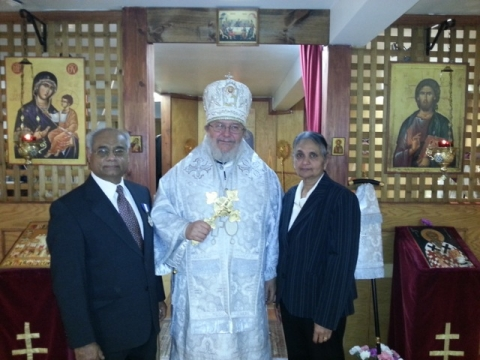 The awarding of the medal of St. Tikhon, Patriarch of Moscow and Apostle to America, to the servant of God Reader Thomas Nadavallil