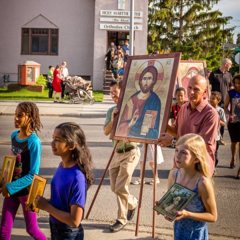 Holy Martyr Peter the Aleut Orthodox Church in Calgary marks the occasion of moving into a new building with a special service