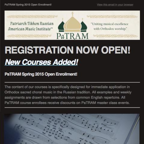 PaTRAM Institute Online Courses Spring 2015