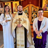 At All Saints of Alaska parish in Victoria, BC, the eve of the Dormition of the Theotokos was blessed with another baptism! Many years to the newly illumined handmaiden of Christ, Photini (Claire)!