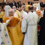 Archbishop Irenée and Clergy lift up Kolach on behalf of Archimandrite Alexander