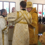Deacon Paul ordination: Washing of the Archbishop's hands