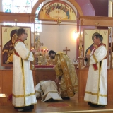 Deacon Paul ordination with Protodeacon Jesse, Subdeacon Bill and Subdeacon Peter