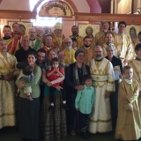 Deacon Paul Bartlett ordination with Archbishop Irénée, clergy and Bartlett family