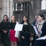 Le chœur de la Mission orthodoxe des Saintes-Myrophores