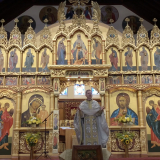 The Feast of the Dormition at Holy Myrrhbearers Orthodox Mission, Toronto (worshipping at Christ the Saviour Cathedral until the University of Toronto reopens later this autumn)