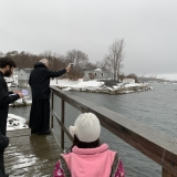 St Vladimir Church, Halifax with Fr David Edwards blessing the Atlantic Ocean