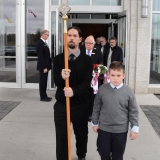 Jesse & Anthony nephews of Archimandrite lead the funeral procession