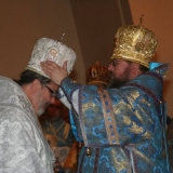 His Beatitude, Metropolitan Jonah vests His Grace, Bishop Irénée.