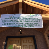"Heritage BC and Columbia Basin Trust ""Built Heritage Grant"" Thank You Banner"